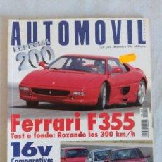 Coches: REVISTA AUTOMOVIL Nº200 ESPECIAL/FERRARI F 355.. Lote 134314822