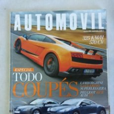 Coches: REVISTA AUTOMOVIL Nº388/ESPECIAL COUPES.. Lote 134324726