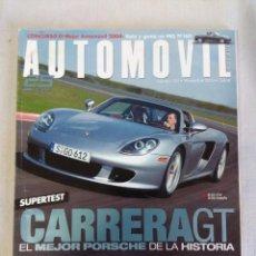 Coches: REVISTA AUTOMOVIL Nº310/PORSCHE CARRERA GT.. Lote 134327786