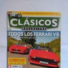 Coches: REVISTA CLASICOS EXCLUSIVOS Nº 90 FERRARI V8 308 323 348 355 MERCEDES JAGUAR D TYPE BMW Z8 GT400 . Lote 135275946