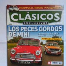 Coches: REVISTA CLASICOS EXCLUSIVOS Nº 96 MINI MORRIS COOPER ROLLS ROYCE AUDI R9 FERRARI F430 MATRA E TYPE . Lote 135276706