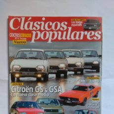 Coches: REVISTA CLASICOS POPULARES Nº 6 CITROEN GS GSA BX DODGE DART 3700 MINI SEAT 133 TOLEDO CHARGER R18. Lote 135279022