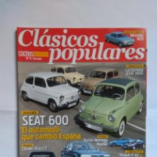 Coches: REVISTA CLASICOS POPULARES Nº 8 SEAT 600 CITROEN VISA MERCEDES W123 RENAULT 19 16V MEGANE FORD FIEST. Lote 135279446
