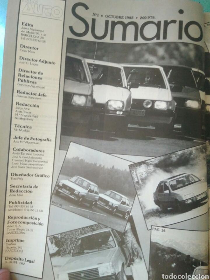 Coches: REVISTA SOLO AUTO AÑO I.OCTUBRE 1982.SEAT RONDA.RENAULT 14.KADETT.TALBOT.CITROEN Y FORD ESCORD - Foto 2 - 135324155
