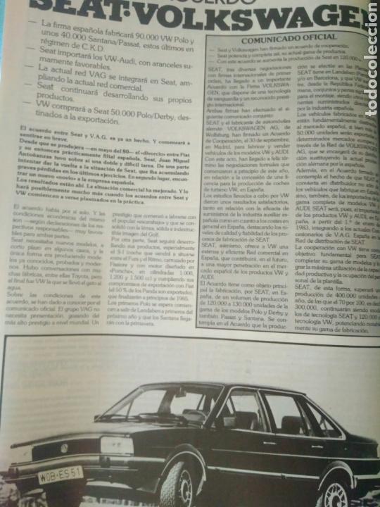 Coches: REVISTA SOLO AUTO AÑO I.OCTUBRE 1982.SEAT RONDA.RENAULT 14.KADETT.TALBOT.CITROEN Y FORD ESCORD - Foto 3 - 135324155