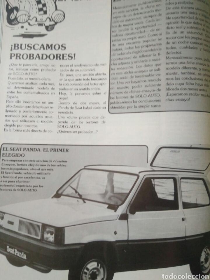 Coches: REVISTA SOLO AUTO AÑO I.OCTUBRE 1982.SEAT RONDA.RENAULT 14.KADETT.TALBOT.CITROEN Y FORD ESCORD - Foto 6 - 135324155