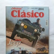 Coches: REVISTA MOTOR CLASICO Nº 204 JEEP CORD L29 FORD THUNDERBIRD LANCIA AUGUSTA SIMCA 900 PEUGEOT 404 . Lote 135464098