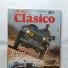 Coches: REVISTA MOTOR CLASICO Nº 204 JEEP CORD L29 FORD THUNDERBIRD LANCIA AUGUSTA SIMCA 900 PEUGEOT 404 . Lote 135464134