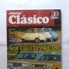 Coches: REVISTA MOTOR CLASICO Nº216 ISETTA BMW HISPANO SUIZA T68 CHRYSLER 180 SEAT 132 RENAULT 7 LAND ROVER . Lote 135537738