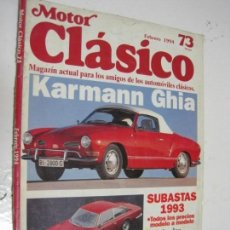 Coches: MOTOR CLASICO Nº73: KARMANN GHIA; FERRARI 365 GT; ETC.... Lote 135736687