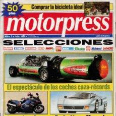 Coches: MOTORPRESS - Nº 3 / JULIO 1990. Lote 136049046