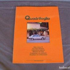 Voitures: ALFA ROMEO REVISTA IL QUADRIFOGLIO Nº 10 ALFA 75 1.8 IE/ CARROCEROS INGLESES AÑO 1989. Lote 136105582