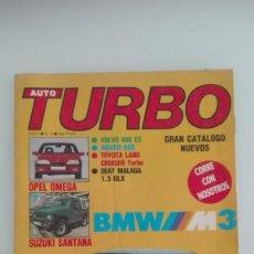 Coches: AUTO TURBO NÚMERO 5 1987 BMW M3 OPEL OMEGA SEAT MALAGA. Lote 136391554