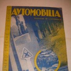 Coches: REVISTA NUMERO ESPECIAL AUTOMOBILIA...AÑO 1934...HAY MUCHAS FOTOS..VER.. Lote 136594434