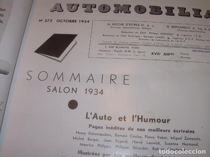 Coches: REVISTA NUMERO ESPECIAL AUTOMOBILIA...AÑO 1934...HAY MUCHAS FOTOS..VER. - Foto 9 - 136594434