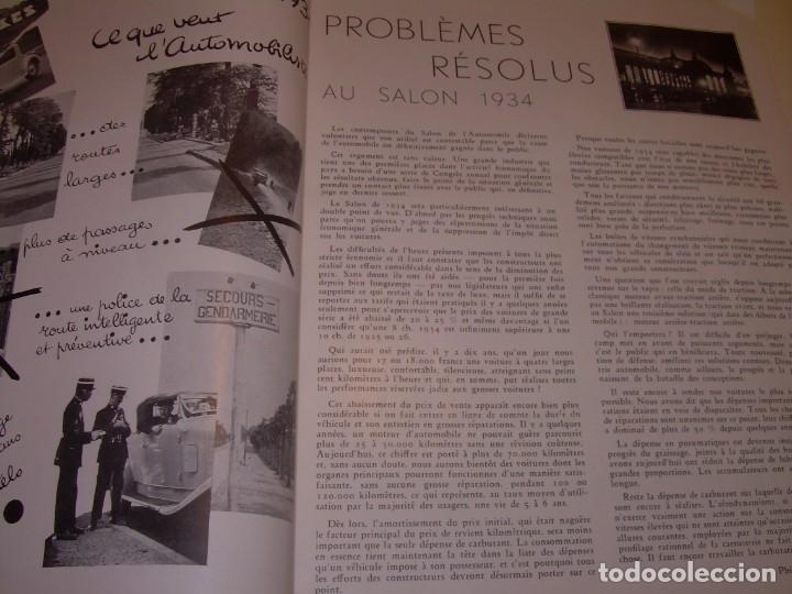 Coches: REVISTA NUMERO ESPECIAL AUTOMOBILIA...AÑO 1934...HAY MUCHAS FOTOS..VER. - Foto 10 - 136594434