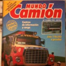 Coches: REVISTA MUNDO CAMIÓN NÚMERO 12 ABRIL 1990 FORD PEGASO. Lote 136737245