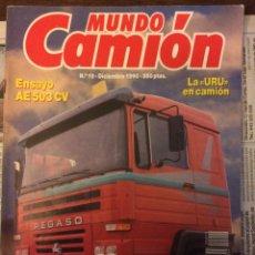 Coches: REVISTA MUNDO CAMIÓN NÚMERO 19 DICIEMBRE 1990 PEGASO RENAULT. Lote 136737856
