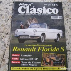 Coches: MOTOR CLASICO Nº113: RENAULT FLORIDE S; RUMPLER; BUICK SERIE 60; ETC.... Lote 137007986