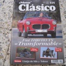 Coches: MOTOR CLASICO Nº114: FIAT 1100/103 TV; DELAGE TIPO F; OSSA 175; ETC.... Lote 137008818