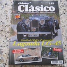 Coches: MOTOR CLASICO Nº115: LAGONDA LG-45; JENSEN INTERCEPTOR; TRIUMPH TRIDENT; AVIA; ROCHET-SCHNEIDER..... Lote 137010478