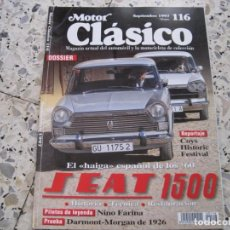 Coches: MOTOR CLASICO Nº116: SEAT 1500; DARMONT-MORGAN; ETC.... Lote 137011742