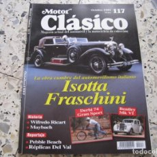 Coches: MOTOR CLASICO Nº117: ISOTTA FRASCHINI; MAYBACH; WILFREDO RICART; DERBI 75; BENTLEY MK VI; ETC.... Lote 137013438