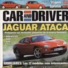 Coches: REVISTA CAR AND DRIVER 71 * JAGUAR XKR-R EVO * JAGUAR XKR * JAGUAR XJR * FERRARI F60 * 43. Lote 137216310