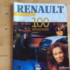 Coches: RENAULT 100 A?OS 1898-1998. ESPAÑOL/PORTUGUÉS . Lote 138223086