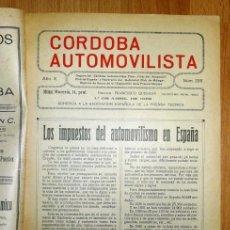 Coches: CÓRDOBA AUTOMOVILISTA. AÑO X ; NÚM. 200 ; 1º DE ABRIL DE 1932 / DIRECTOR: FRANCISCO QUESADA. Lote 139512562