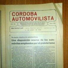 Coches: CÓRDOBA AUTOMOVILISTA. AÑO XII ; NÚM. 224 ; 1º DE ABRIL DE 1934 / DIRECTOR: FRANCISCO QUESADA. Lote 139513566