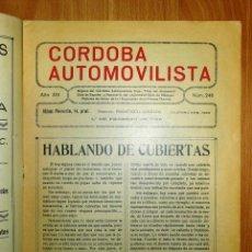 Coches: CÓRDOBA AUTOMOVILISTA. AÑO XIV ; NÚM. 246 ; 1º DE FEBRERO DE 1936 / DIRECTOR: FRANCISCO QUESADA. Lote 139515630