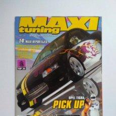Coches: REVISTA MAXI TUNING Nº 56 OPEL TIGRA GOLF V6 PEUGEOT 205 RENAULT MEGANE SUZUKI SWIFT BMW 318IS ALMER. Lote 139646486
