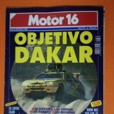 Coches: MOTOR 16 Nº 375 - DICIEMBRE 1990 - OBJETIVO DAKAR. Lote 139670630