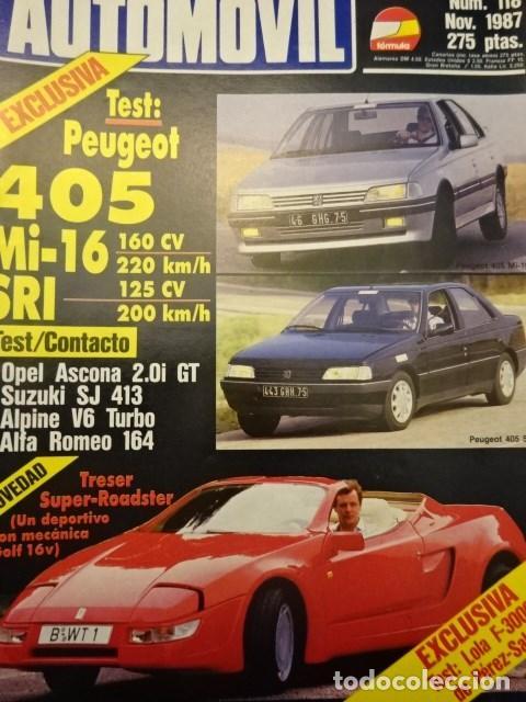 Revista Automovil 118 Peugeot 405 Mi 16 Renault Comprar Revistas
