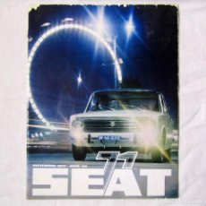 Coches: REVISTA SEAT Nº 58 1971, SEAT 1500, 2000,.... Lote 139738690