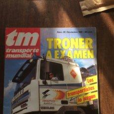 Coches: REVISTA TRANSPORTE MUNDIAL NÚMERO 29 DE 1989 PEGASO TRONER. Lote 182263260