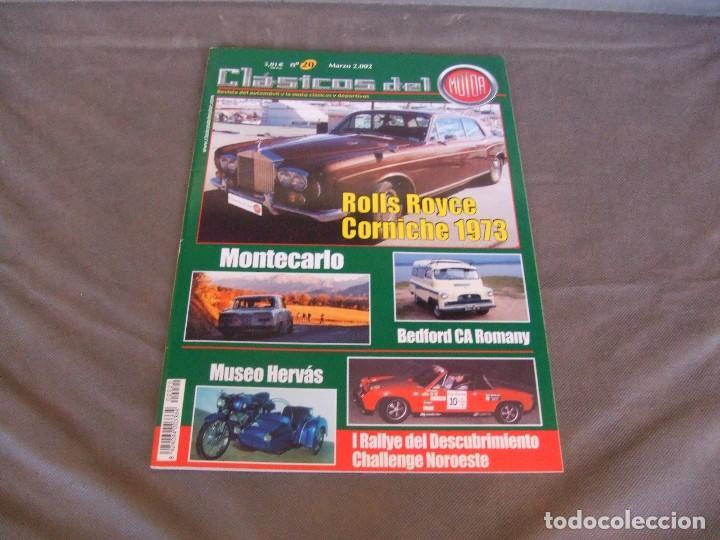 CLASICOS DEL MOTOR Nº 20 AÑO 2002 ROLLS ROYCE CORNICHE/BEDFORD CA 1963/ ALFA SPIDER/RENAULT 8TS (Coches y Motocicletas Antiguas y Clásicas - Revistas de Coches)