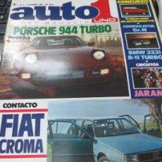 Coches: AUTO UNO SPORT MAGAZIN AÑO I Nº 3 5 NOVIEMBRE 1985. Lote 140736362