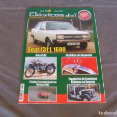 Coches: CLASICOS DEL MOTOR Nº22 AÑO 2002 SEAT 131 L 1600/DODGE DART 1966/MOTO RAVAT 1924. Lote 142150098