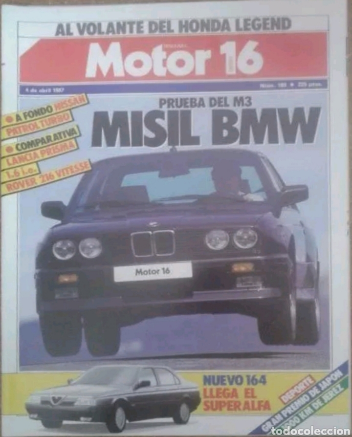 Coches: Revista n°180 Motor 16 misil BMW 1987 - Foto 1 - 142739694