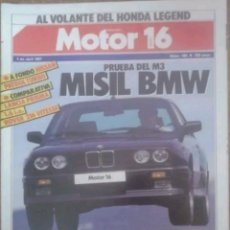 Coches: REVISTA N°180 MOTOR 16 MISIL BMW 1987. Lote 142739694