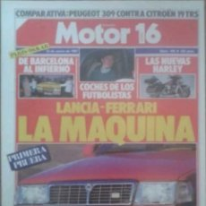 Coches: REVISTA N°168 MOTOR 16 LA MÁQUINA 1987. Lote 142739828