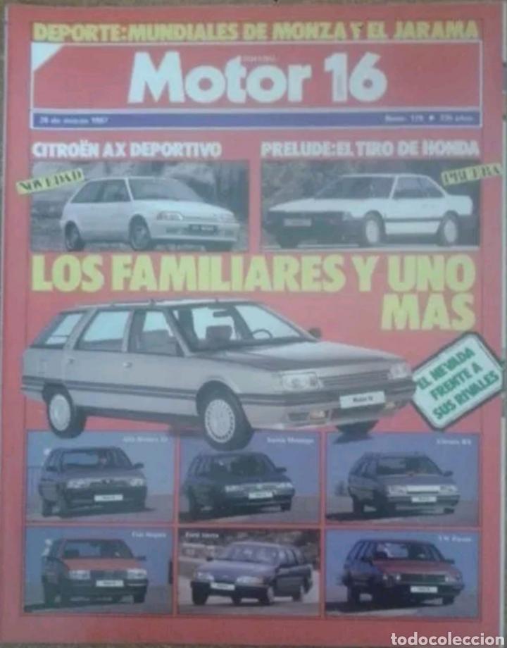 REVISTA N°179 MOTOR 16 LOS FAMILIARES 1987 (Coches y Motocicletas Antiguas y Clásicas - Revistas de Coches)