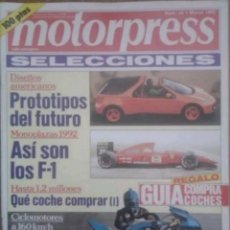 Coches: REVISTA N°23 MOTERPRESS 1992. Lote 142741149