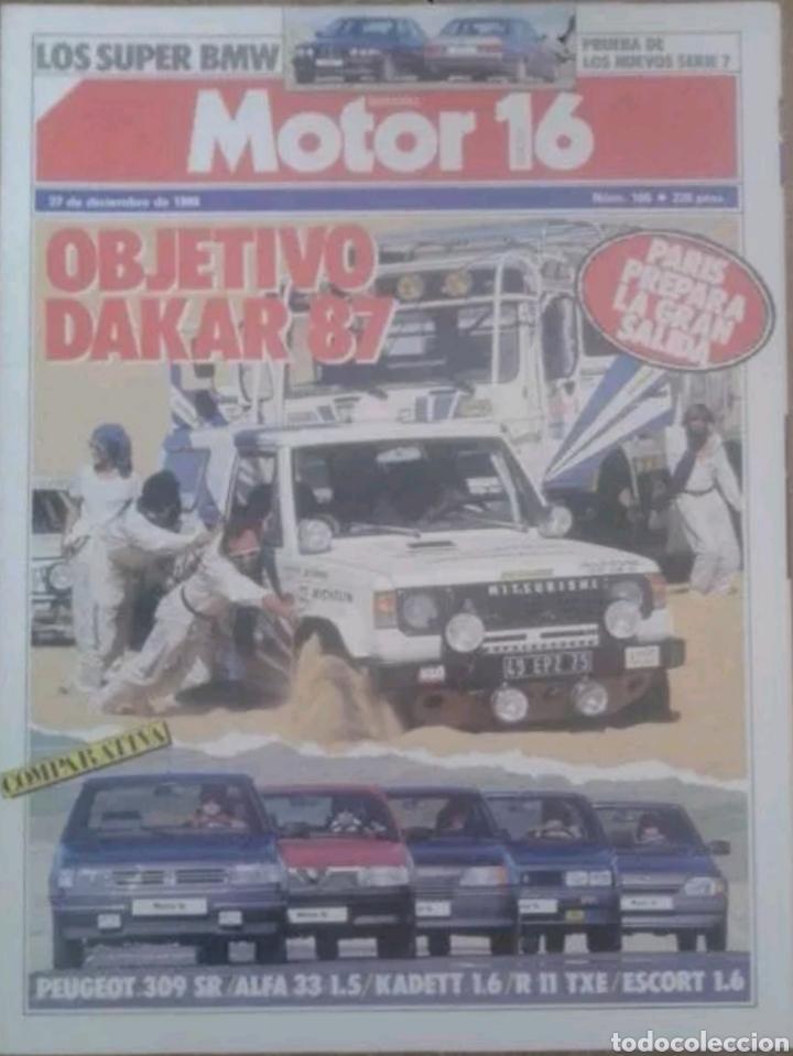 REVISTA N°166 MOTOR 16 OBJETIVO DAKAR 1987 (Coches y Motocicletas Antiguas y Clásicas - Revistas de Coches)