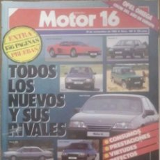 Coches: REVISTA N°162 MOTOR 16 TODOS LOS NUEVOS Y SUS FINALES 1986. Lote 142799518
