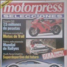 Coches: REVISTA N°21 MOTORPRESS 1992. Lote 142835398