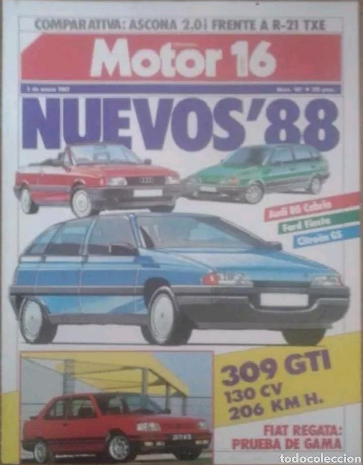REVISTA N°167 MOTOR 16 NUEVOS'88 - 1987 (Coches y Motocicletas Antiguas y Clásicas - Revistas de Coches)