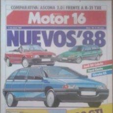Coches: REVISTA N°167 MOTOR 16 NUEVOS'88 - 1987. Lote 142835617